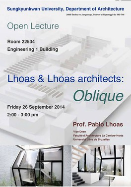 Lecture by Pablo Lhoas in Seoul