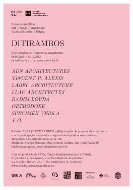ReNouveaux Plaisirs d'Architecture #3 : exposition à Sao Paulo