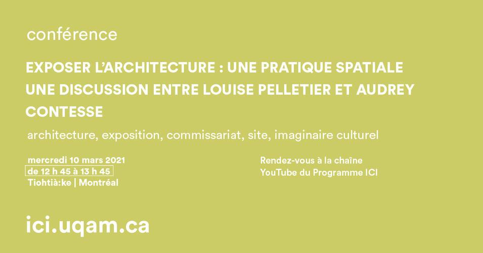A. Contesse : Exposer l'architecture - Montréal