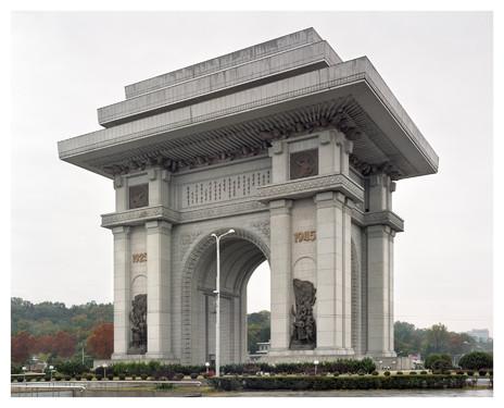 Arc de Triomphe de Pyongyang : le plus haut du monde. Construit en l'honneur de Kim II Sung