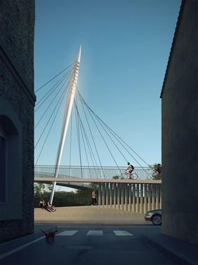 Ney&Partners remporte le concours pour la passerelle de Bourg-en-Valence