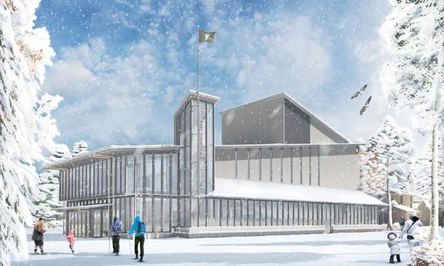 Ph. Samyn : L'Arctic Circle Theater de Rovaniemi en Finlande