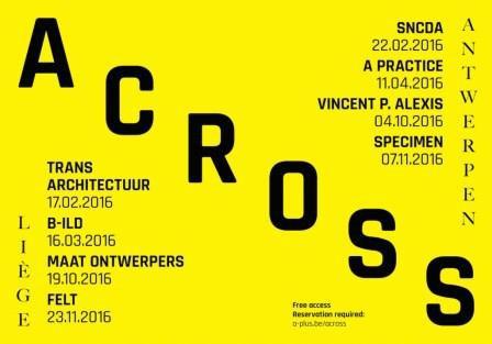 Across : cycle de conférences - Anvers/Liège