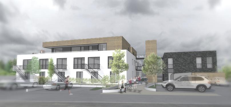 r novation b timent industriel 10 logements vellereille le sec belgique dzerostudio. Black Bedroom Furniture Sets. Home Design Ideas