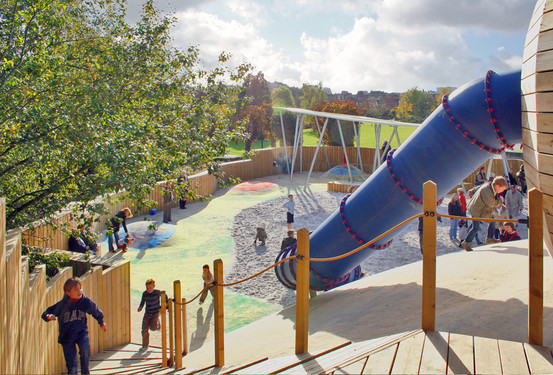 Plaine de jeux du parc georges henri su de 36 wallonie for Architecte de jardin hainaut