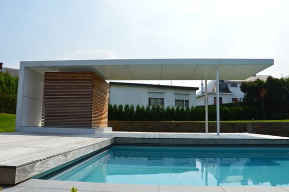 pool house plan 9 bureau d 39 architectes sprl wallonie bruxelles architectures. Black Bedroom Furniture Sets. Home Design Ideas